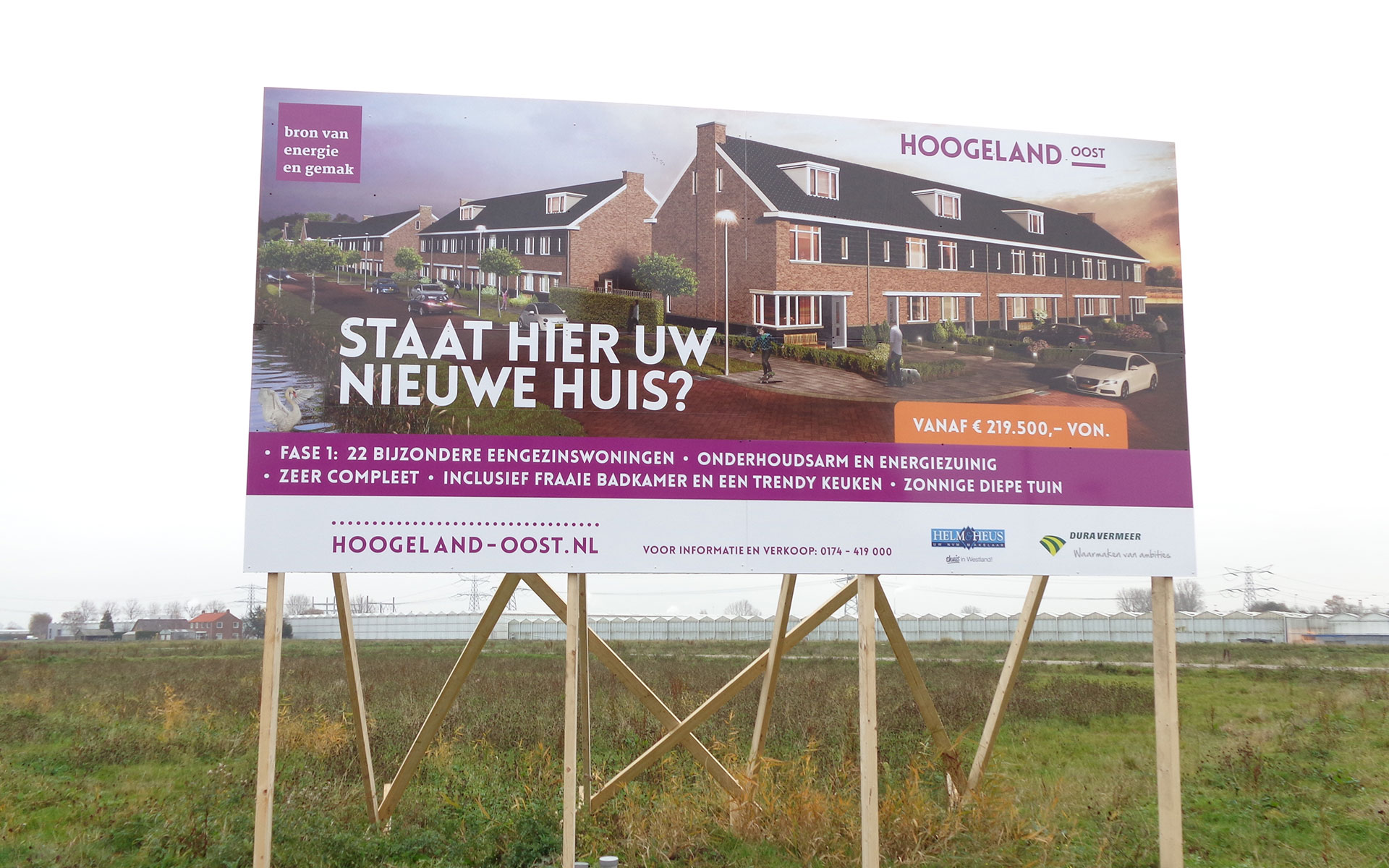 Dura Vermeer Bouwbord Albers de Vries