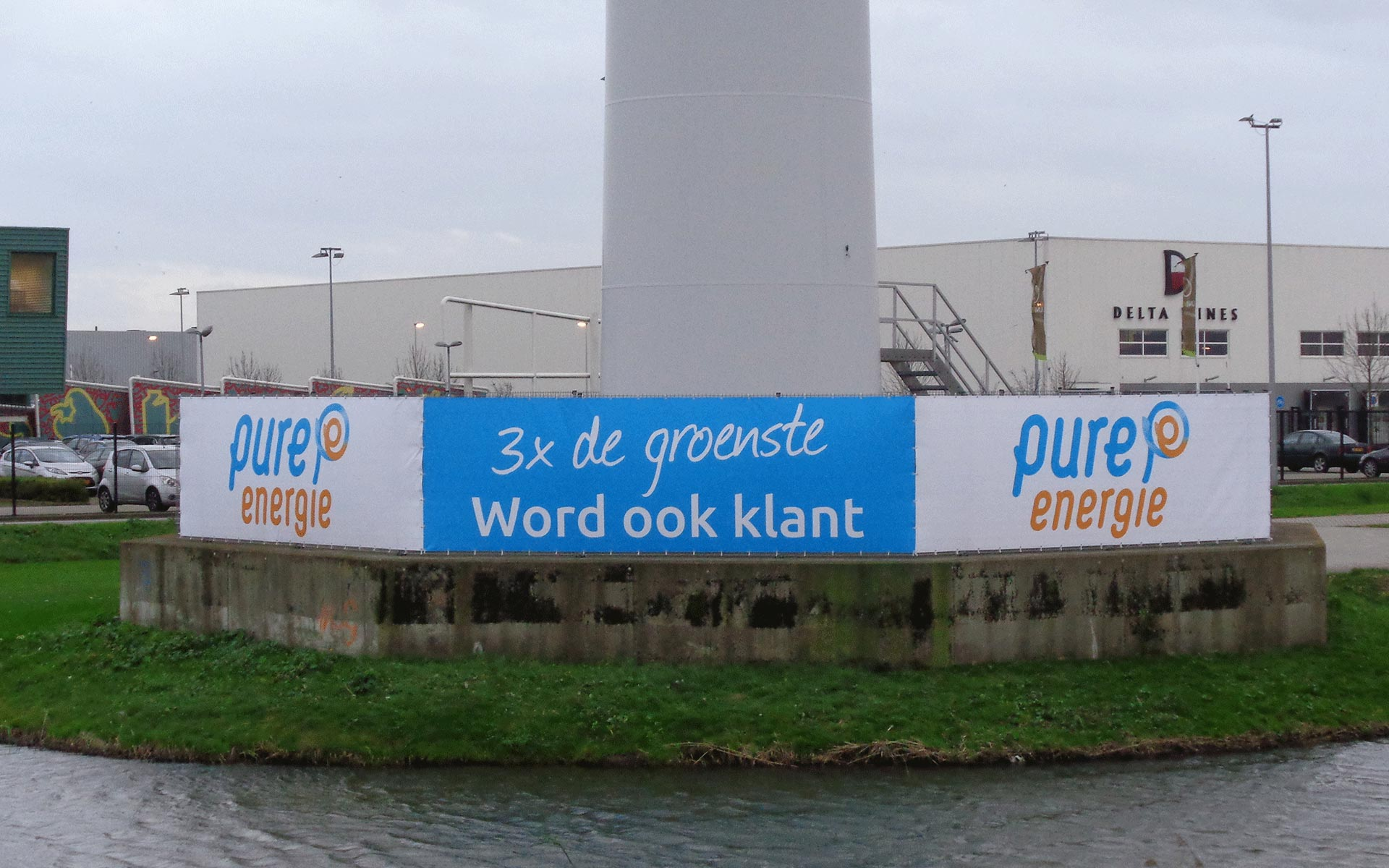 Pure Energie Bouwhekbanners Outdoorsigning