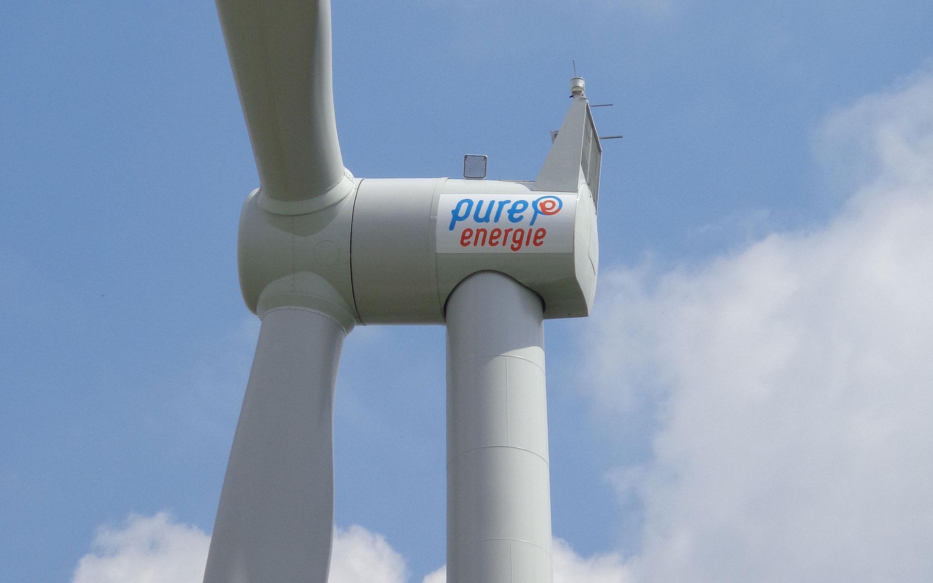 Raedthuys Pure Energie belettering windmolens