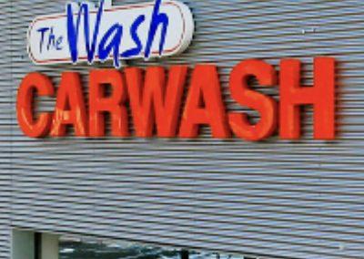 The Wash Hengelo en Enschede Lichtreclame Outdoorsigning