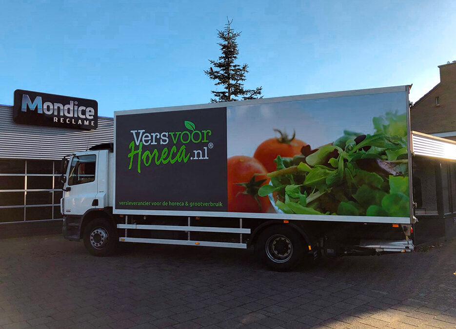 Full Colourprints Vrachtautobelettering VersvoorHoreca