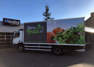 Full colour vrachtautobelettering Versvoorhoreca.nl